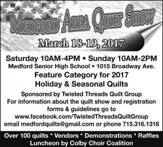 2017 Medford Area Quilt Show