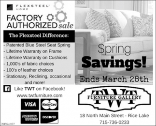 Factory Authorized Sale
