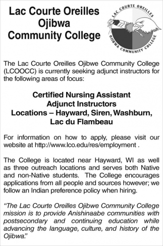 Certified Nursing Assistant, Adjunct Instructors