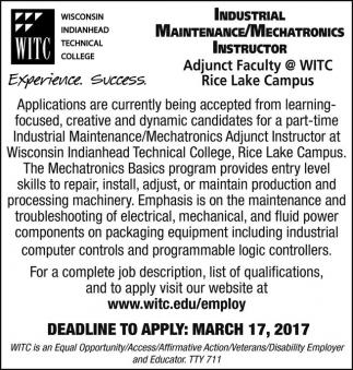 Industrial Maintenance / Mechatronics Instructor