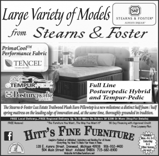 Large Variety of Models from Stearns & Foster