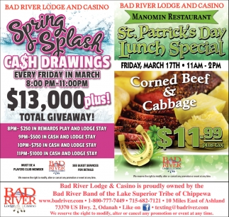 Spring Splash Cash Drawings $13,000 plus! Total Giveaway!