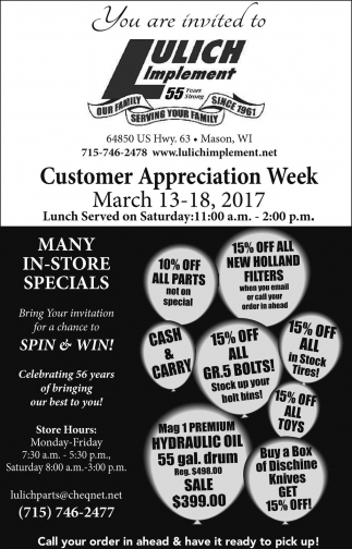 Customer Appreciation Week