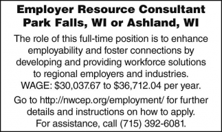 Employer Resource Consultant