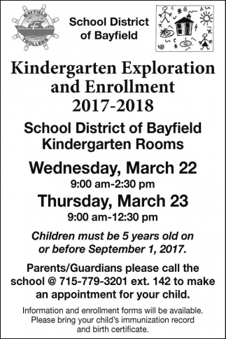 Kindergarten Exploration and Enrollment