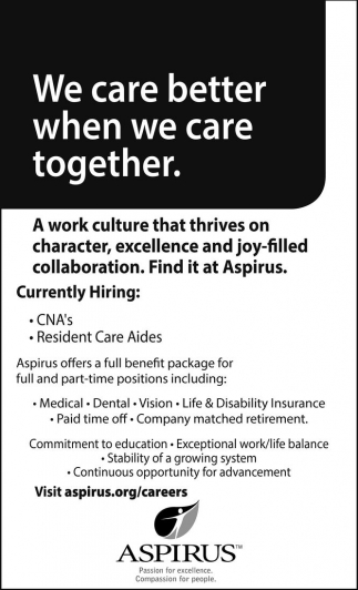 CNA's / Resident Care Aides