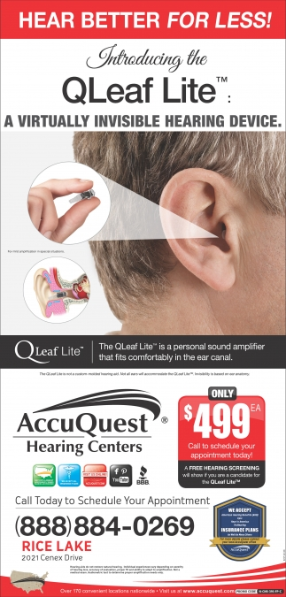 QLeaf Lite: a virtually invisible hearing device