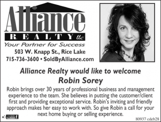 Welcome Robin Sorey