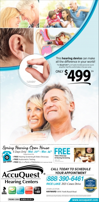 Spring Hearing Open House
