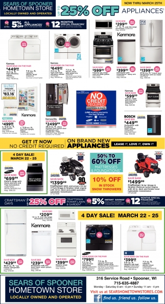25% off Appliances