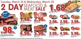 2 day seafood and meat sale