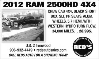 2012 RAM 2500HD 4X$