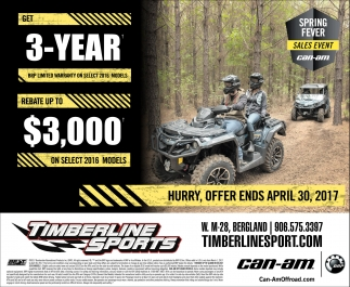 Spring Fever Sales Event Can-Am
