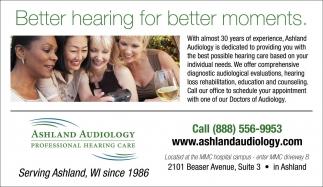 Better hearing for better moments