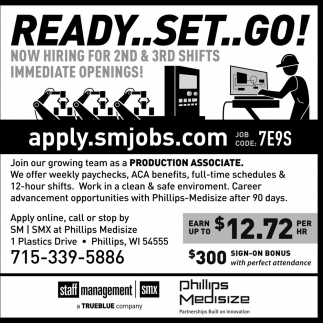 Now Hiring for 2nd & 3rd shifts immediate openoings!