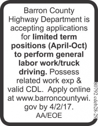 General Labor Work / Truck Driving