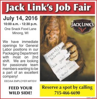 Jack Link's Job Fair