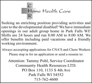 CNA'S and Chore Workers