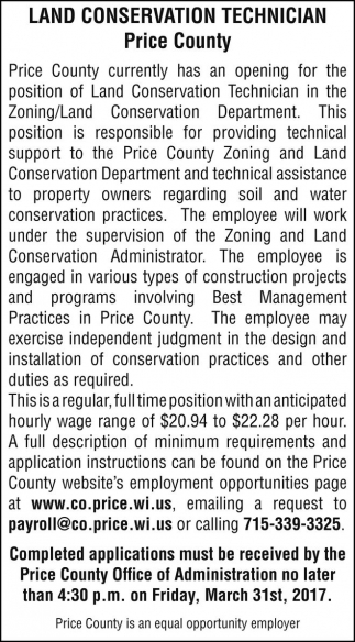 Land Conservation Technician