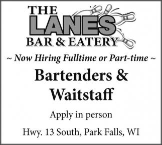 Bartenders & Waitstaff