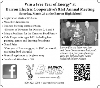 Barron Electric Cooperative's 81st Annual Meeting