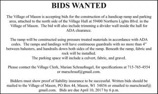 Bids Wanted
