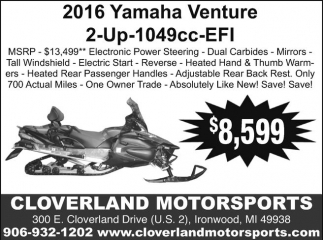 2016 Yamaha Venture
