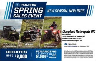Polaris Spring Event