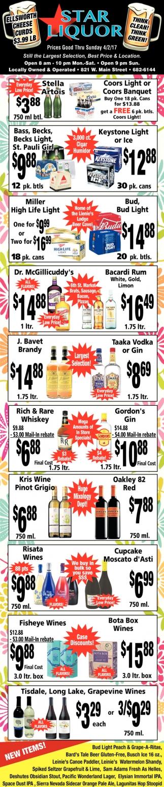 Prices Good Thru Sunday 4/2/17