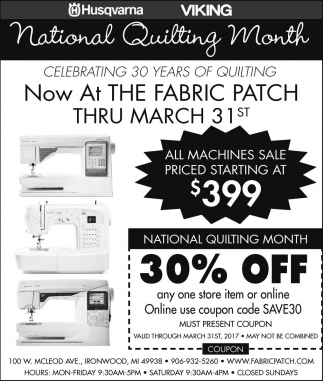 National Quilting Month