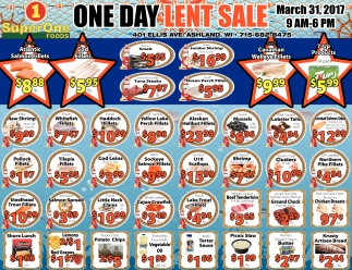 One Day Lent Sale