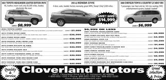 Toyota, Honda, Chrysler