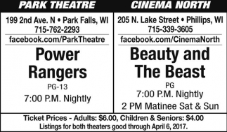 Power Rangers / Beauty and The Beast