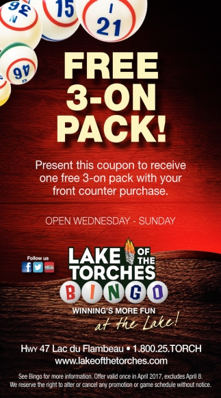Free 3-on pack!