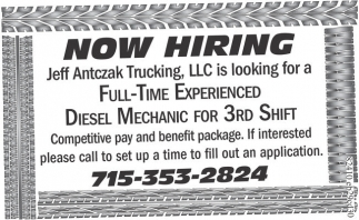 Diesel Mechanic for 3rd Shift