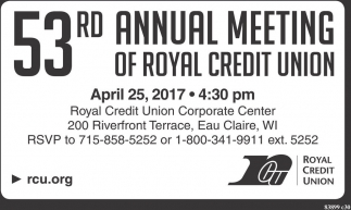 53rd Annual Meeting of Royal Credit Union