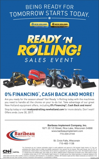 Ready 'n Rolling! Sales Event