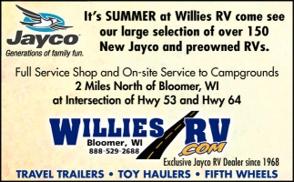TRAVEL TRAILERS - TOY HAULERS - FIFTH WHGEELS