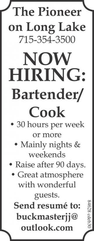 Bartender / Cook