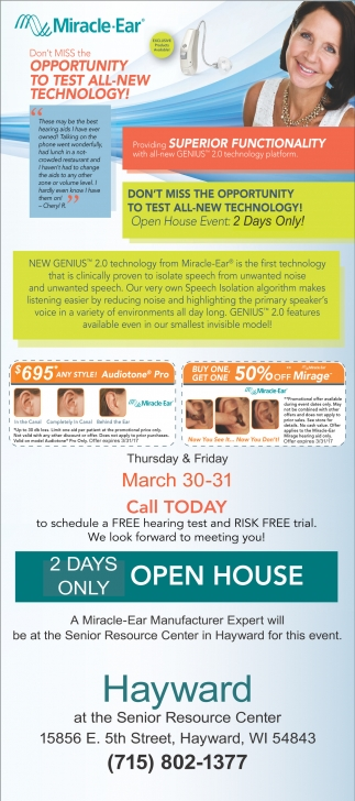 2 Days Only Open House