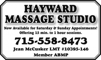 Now offering 15 min. to 1 hour session