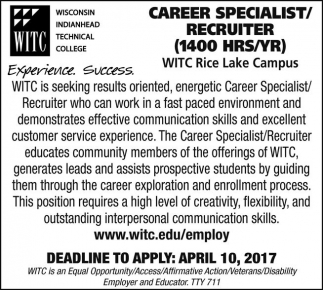 Career Specialist / Recruiter