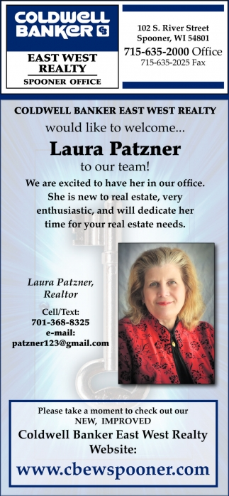 Welcome Laura Patzner to our team