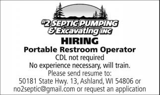 Portable Restroom Operator