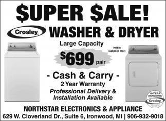 Super Sale Washer & Dryer