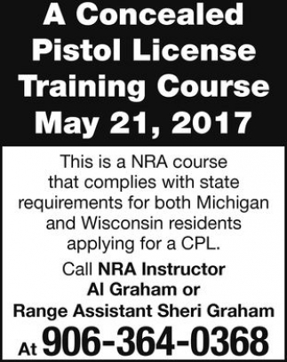 Pistol License Training Course