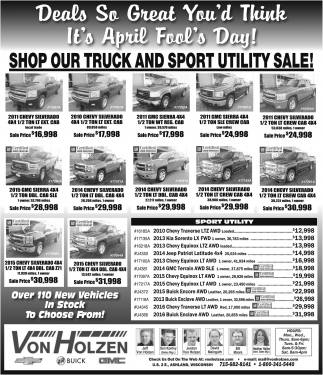Shop Our Truck and Sport Utility Sale