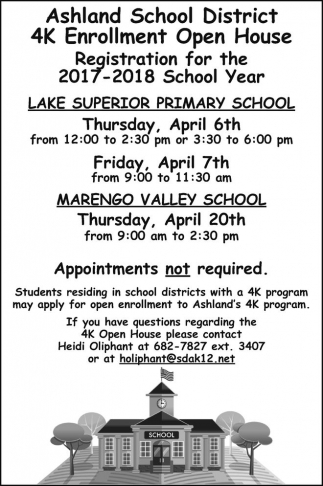 Registration for the 2017 - 2018 School Year