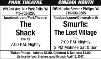 The Shack / Smurfs: The Lost Village