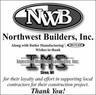 Wishes to thank Injection Molding Solutions, Inc